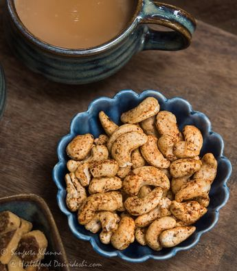 Roasted masala Cashew nuts in Microwave