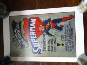 1941 superman movie poster 1st movie cartoon-technicolor