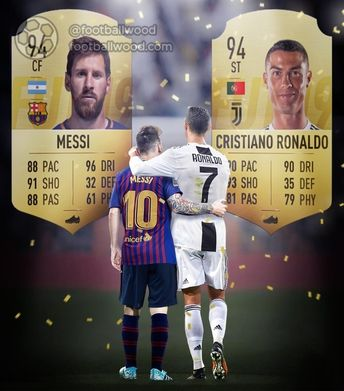 For the first time, Ronaldo and Messi have the same rating