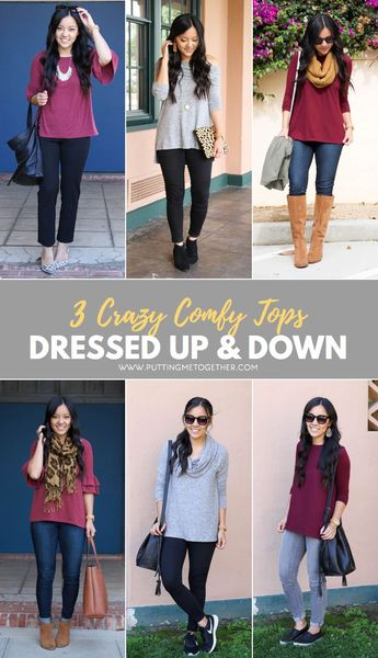 3 Crazy Comfy Tops Dressed Up & Down