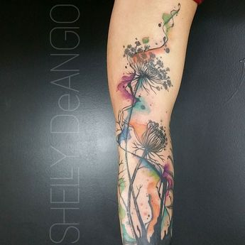"Some of the prettiest flowers are ""weeds"" #tattoo #tattoos #greshamoregon #portlandoregon #equinoxtattoocollective #watercolor #watercolortattoo #watercolour #watercolourtattoos #skinartmag #tattoorevuemag #flowertattoo #supportgoodtattoos #freshink #graphictattoos #abstract #abstracttattoo #finearttattoos #inkaddicts #tattoosnob #tattrx #inkjunkeyz #radtattoos #awesometattoos #eternalink #spektahalo #spektadirekt #fkirons #lovemyjob by shell_shock_tattoos"