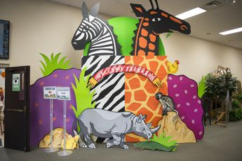 Welcome your kids to #CampKilimanjaro with over-size animals! #vbs2015