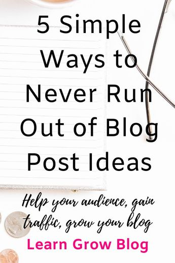 How to Never Run Out of Blog Post Ideas - Learn Grow Blog