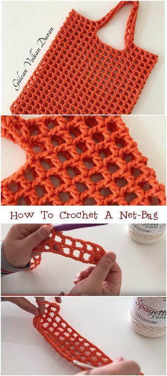 How To Crochet A Net-Bag Free Video Tutorial