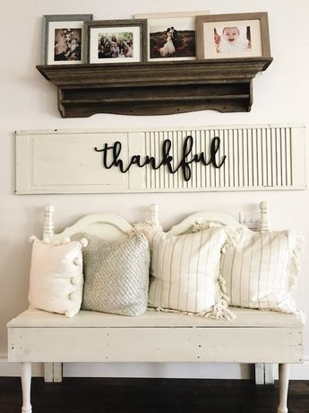 Thankful Sign Wood Cut Out, Thankful Wood Sign, Farmhouse Decor, Home Decor, Cut Out, Word Cutouts,