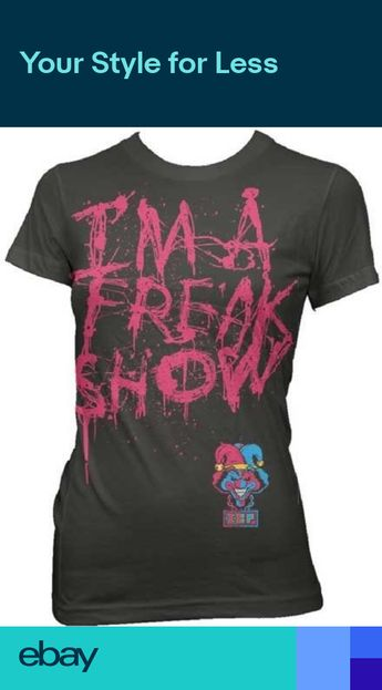4fcf0eb70f4 Insane Clown Posse Im A Freak Show Junior T Shirt
