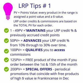 doTERRA LRP Tips # 1