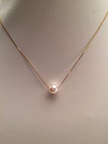 18k akoya white pearl pendant necklace #pearlearrings