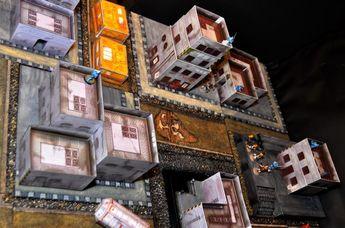 Buildings, City, Infinity, Paper, Sci-fi Style Buildings From Wargameprint, Science-fiction, Terrain, Wargameprint, Warhammer Fantasy