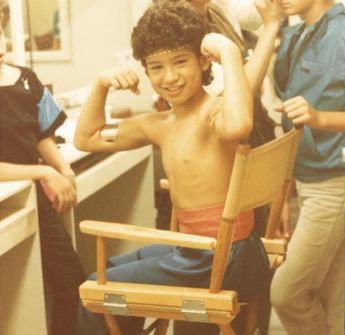 Mario Lopez showed off his muscles