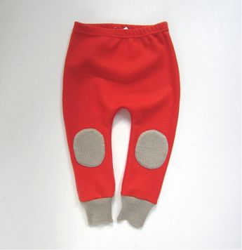 Fledgling Knee-pad Merino Wool Pants - 12m - Orange/Camel. $39.00, via Etsy.