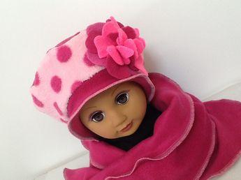 Chapeau enfant sur mesure en polaire   Mode filles par creation-valerie- castets 43849ceb4a1