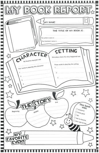 Image result for book report worksheet 3rd grade