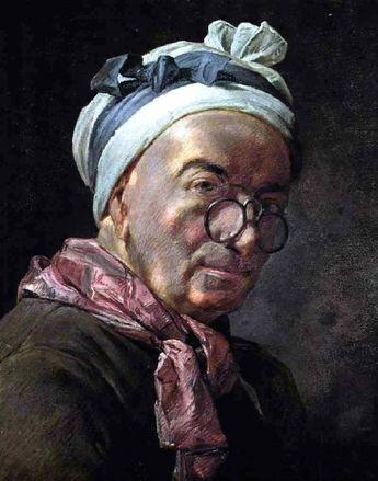 Self-Portrait by Jean-Baptiste-Simeon Chardin - Hand Painted Oil Painting