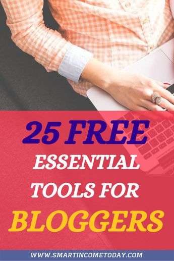 From tools that help you with productivity or writing your blog posts, there are many options. Here are 25 free tools great for bloggers! #freetools #bloggers
