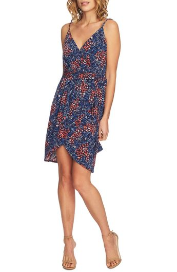 4eb5cf7fe5efe Free shipping and returns on CeCe Corinne Floral Wrap Dress at  Nordstrom.com. Boast