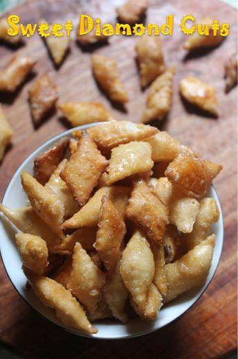 Sweet Diamond Cuts Recipe - Maida Biscuits Recipe - Easy Diwali Sweets Recipe