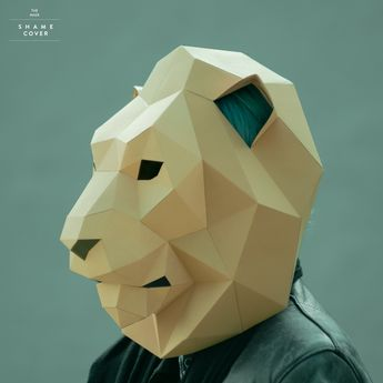 DIY Werewolf Mask Template, Low Poly Paper Craft Project,