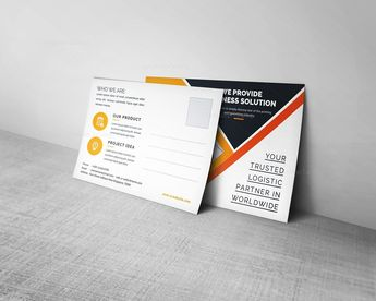 Corporate Business Postcard Design - Graphic Templates