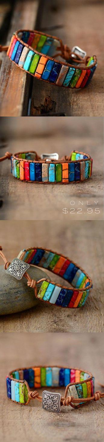 Lapis - Jasper Stone Bracelet