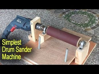 Amazing Simplest Drum Sander Machine DIY - Perfect Woodworking With Tools - YouTube