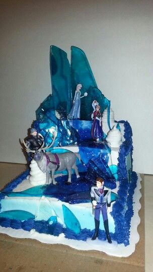 Disneys Frozen Cake I Had Wal Mart Create The 3 Layered Like