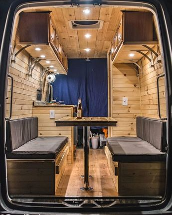 Beautiful wooden interior  TheProjectVanlife.com  Seattle, Washington  by Follow M