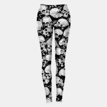 f8cd5e3b Totally Gothic II Leggings, Live Heroes skull, skeleton, halloween, death,  skulls