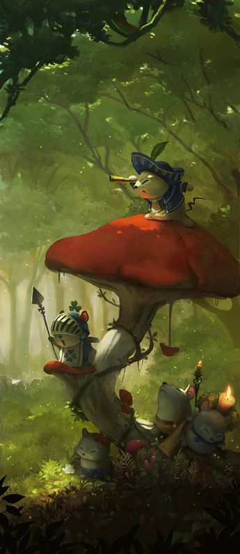 ArtStation - Hey!Cats!~Come out!, Nada W