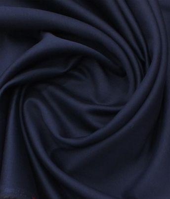 1a2aeb05d Solino Denim Blue 50% Cotton 50% Linen Self Trouser Fabric (Unstitched -  1.30