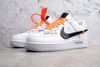 new products c1b9f 0099d Custom Off-White x Nike Air Force 1 Low White - Off-White x