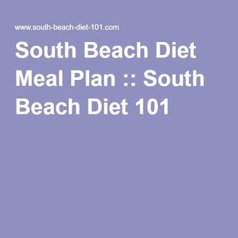 South Beach Diet Meal Plan :: South Beach Diet 101 #southbeachrecipe