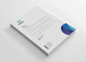 Top Corporate Letterhead Design Template 5.99