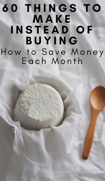 Need to know How to save money each month? Pinch your pennies and use this list of 60 things we stopped buying and started making. #frugalliving #savingmoney #doityourself #frugalnavywife | Frugal Living | DIY | Do it Yourself | Saving Money | Cutting Spending Tips