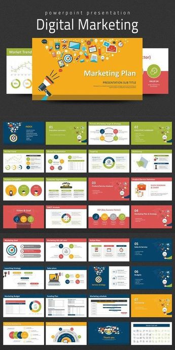 Digital Marketing Strategy PPT PowerPoint Template. Business Infographic