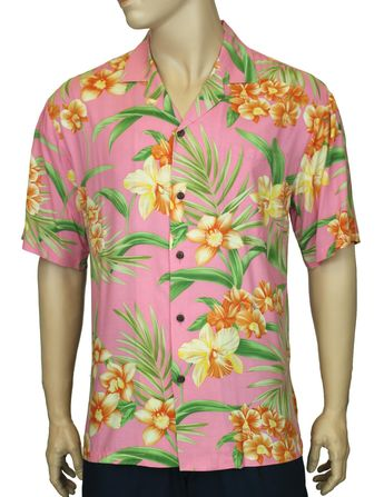 4150d445 Check out the deal on Aloha Shirt Rayon Orchid Galore at Shaka Time Hawaii  Clothing Store