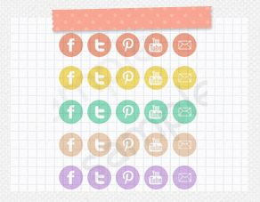 Pastel Icons - Multi-Pack : Envye, A Design Shop by Wonder Forest The mint ones on here are just perfect.