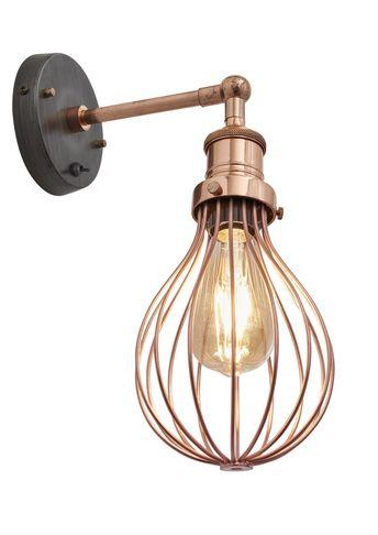 Copper Brooklyn Balloon Cage Wall Light - Industville