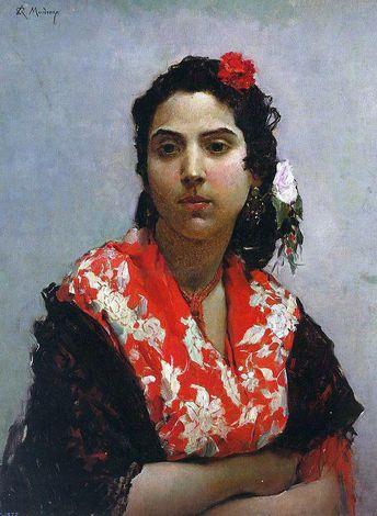 A Gypsy by Raimundo de Madrazo Y Garreta - Hand Painted Oil Painting
