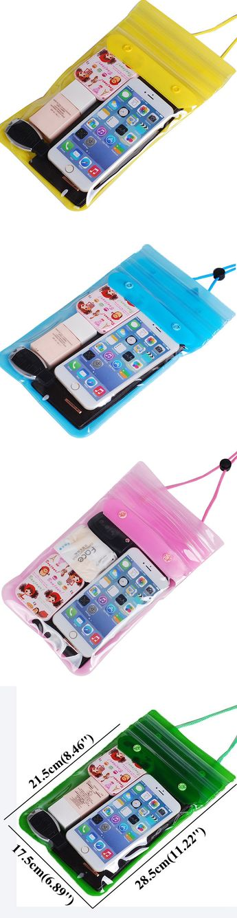 US$19.63 Seal Waterproof 6.5inch Phone Storage Bag Light PVC Beach Swimming Surfing Drift Bag