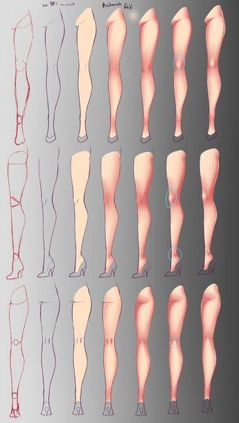 Como eu pinto - Legs by rika- on @DeviantArt