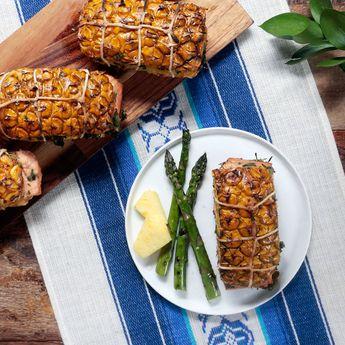 Salmon on Pineapple Planks