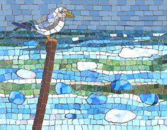 Seagull Mosaic Print MartinCheekMosaics Etsy