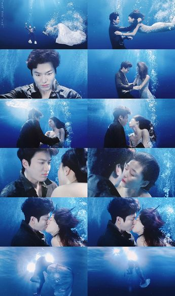 Legend of the blue sea , Jeon ji hyun , Jun ji hyun , Lee min ho 2016 #underwaterkiss