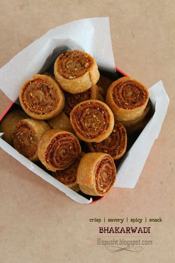 Spusht | Vegetarian Recipes, How-To Posts, Entertaining Ideas, Travelogue, and more: Bhakarwadi | Crispy Savory Rolls with Spicy Fillin...