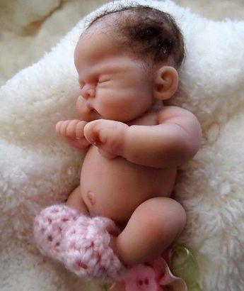 "Details about Ooak baby girl, Ginger, 4"", jointed full sculpt, Artist Original Sculpt"
