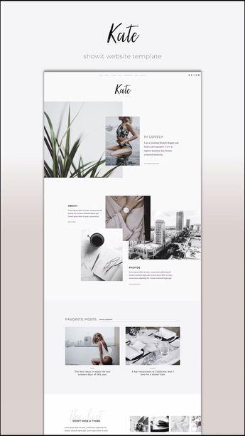 Kate  - Showit | The Roar | Web Design for Creatives | Showit Website Templates