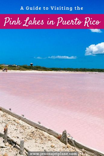 Did you know you can see pink lakes in Puerto Rico? Easily accessible by car, they make the perfect day trip from San Juan! Save to your travel board for future reference. #pinklake #puertoricovacation