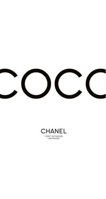 iPhone 5 Wallpaper Coco Chanel