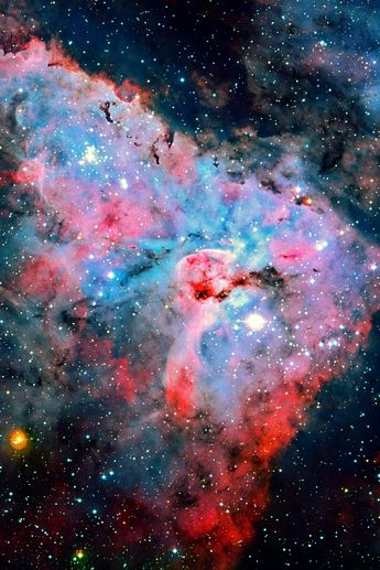 The Keyhole Nebula is a site of active star formation, and it contains stars that are ten times as hot and 100 times as massive as the Sun.